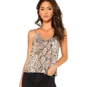 Snake Skin Graphic Print Cami Top